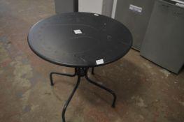 5 Black Bistro Tables