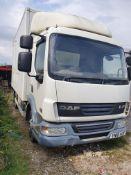 DAF LF 45.180 Reg YN10AUF 7.5 tonne fridge/freezer lorry with professionally fitted towing bracket.