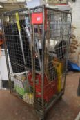 Cage Lot Including Cleaning Products, Dustpan & Br