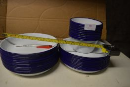 *23 Enameled Steel Dishes and 10 Small Enamel Dish