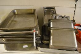 *Large Quantity of S/S Warming Trays and Bain Mari