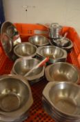 *~50 Stainless Steel Serving Dishes