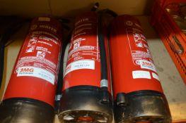 *Three Empty Water Fire Extinguishers