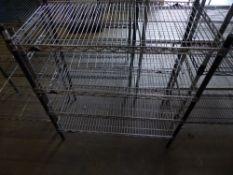 * 4 tier wire rack. 900w x 450d x 1020h