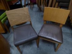 * 7 x selection of brown chairs
