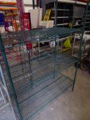 * 4 tier wire rack. 1700w x 600d x 1850h