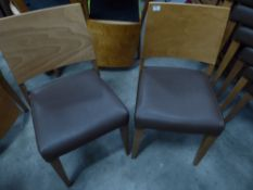 * 8 x wooden chairs with brown seats