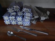 * large quantity of new/boxed cutlery - approx. 72 knives, 72 forks, 120 tea spoons