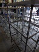 * 4 tier wire rack. 800w x 600d x 1800h