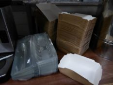 * food packing - food trays, baguette trays