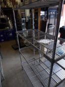 * 4 tier wire rack. 1200w x 500d x 1080h