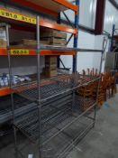 * 4 tier wire racking. 1520w x 600d x 1850h