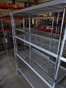 * 4 tier wire rack. 1200w x 500d x 1800h