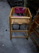 * 4 x wooden high chairs