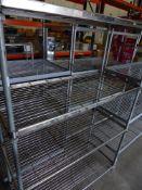 * 4 tier wire rack. 1200w x 530d x 1800h