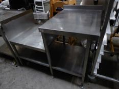 * S/S multi-level bench ideal for counter top appliances with under shelf. 1170w x 700d x 580h (to