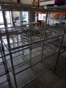 * 4 tier wire rack. 1190w x 600d x 1700h
