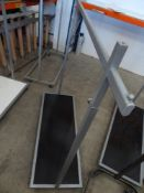 * clothes rail on castors - adjustable height with under shelf