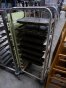 * 10 tier tray rack on castors complete with trays