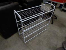 * 4 tier white shoe rack. 750w x 280d x 740h