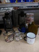 * misc display items - lamps, jars, shells, etc