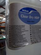 * 1 x 5L Clear dry HDP concentrated acidic rinse adative for profesional ware washing machines