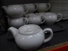 * 17 x white tea pots
