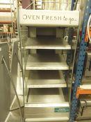 *heated multideck grab and go - 4 shelf. 650w x 900d x 1950h