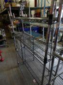 * 4 tier wire rack. 1190w x 300d x 1800h