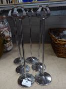 * 6 x S/S table number stands
