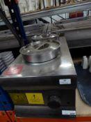 * Lincat 2 pot bain marie with pots and lids