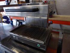 * Nayati adjustable height electric salamander grill
