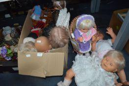 Large Box of Dolls