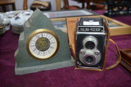 Vintage Halina Viceroy Camera plus Slate Mantel Cl