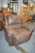*Leatherette Electric Recliner