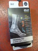 *Trekking Pro Classic Cut Socks in Black Size: 35-