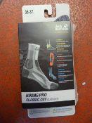 *Hiking Pro Classic Cut Socks in Light Grey Size: