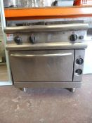 Baron Two Ring Gas Hob, Oven and Hot Plate