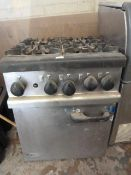 Lincat Oven with Four Ring Gas Hob