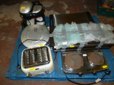 Job Lot Including Hot Plates, Toaster, Grilling Machine, and Coffee Maker