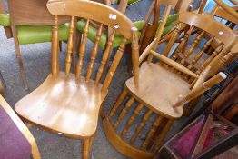 * 5 wooden farmhouse dining chairs