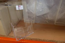 * Crate containing large quantity of new 1/3 A4 leaflet dispensers