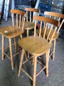* set of 4 bar stools
