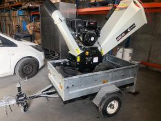 Lumag RAMBO HC15 Wood Chipper only 10 hours use on trailer ready to go - NO VAT