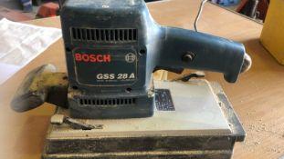 * Large BOSCH Sander Model GSS 28A 240v Working Order