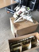 * Mc graw heavy duty post hole borer model 4603to with 3 sizes of borers in wooden case