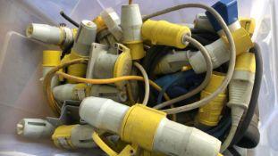 * Box of 110v and 240v plugs