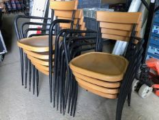* 9 x sander stacking chairs
