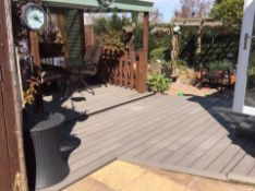 * 20 WPC Composite Light Grey Double sided Embossed Woodgrain Decking Boards 2900mm x 146mm x 25mm