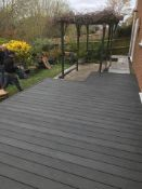 * Complete Dark Grey WPC decking Kit to cover an area of 2.9m x 2.9m includes joists - clips -